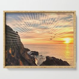Californian sunset - Graphic sunset Serving Tray