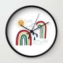Sunshine & Rainbows Wall Clock