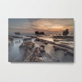 Melasti beach at sunset, Tanah Lot, Bali, Indonesia Metal Print