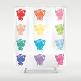 Jelly Bears Shower Curtain
