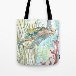 Underwater Fantasy Sea Turtle Tote Bag