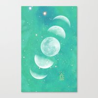 moon phase Canvas Prints featuring Moon Phase  by The Adventuring Soul