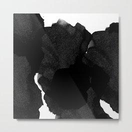 Black Ink Metal Print