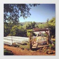 outdoor Canvas Prints featuring Outdoor Wedding by Judy Bavongkhoun