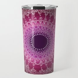 Inspiring on Black Background Travel Mug