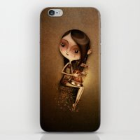 cage iPhone & iPod Skins featuring Gold Cage by José Luis Guerrero