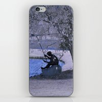 fishing iPhone & iPod Skins featuring Fishing by Anthony M. Davis