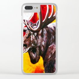 I'm NO Bambi Moose Bull Majestic Beautiful Colorful Bright Strong Powerful Nature Wildlife Hunter Clear iPhone Case