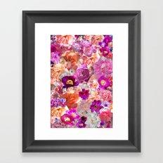 Peonies Tulips & Roses Framed Art Print