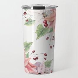 Poinsettia 2 Travel Mug