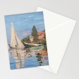 Claude Monet - Regattas at Argenteuil Stationery Cards