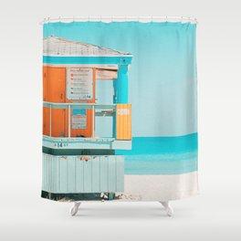 Santa Monica California Shower Curtain
