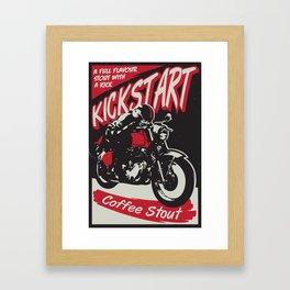 Kickstart Coffee Stout Framed Art Print