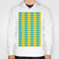 yellow pattern Hoodies featuring Pattern KUKI,yellow by MehrFarbeimLeben