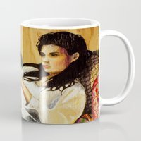 reading Mugs featuring Reading by Madelyne Joan Templeton