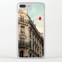 Balloon Rouge Clear iPhone Case