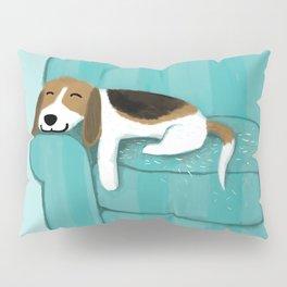 Happy Couch Beagle | Cute Sleeping Dog Pillow Sham