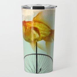 unicycle goldfish Travel Mug