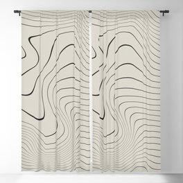 Line Distortion #2 Blackout Curtain