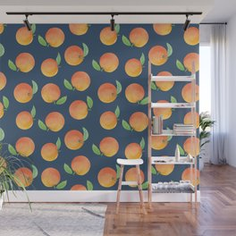 Fresh Oranges Watercolor Wall Mural