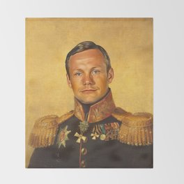 Neil Armstrong - replaceface Throw Blanket