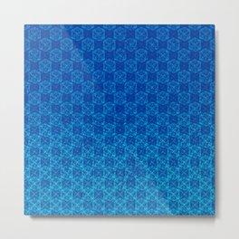 D20 Celestial Crit Pattern Premium Metal Print