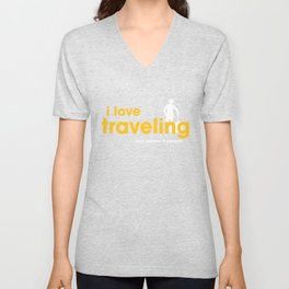 I Love Traveling Unisex V-Neck