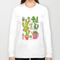 cactus Long Sleeve T-shirts featuring Cactus by HuiSkipp