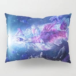 The Mermaid's Encounter Pillow Sham