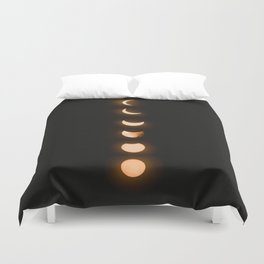moon phases bright moon crescent moon astronomy night sky solar eclipse magic wicca lunar calendar Duvet Cover