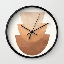 Abstract Rock Geometry 06 Wall Clock