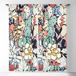 Blue Sky Succulents Blackout Curtain