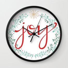 Holiday Joy Wall Clock
