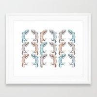lizard Framed Art Prints featuring Lizard by Iratxe González