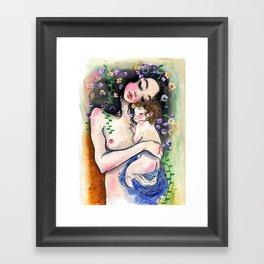 Klimt: Mother and Child 1 Framed Art Print