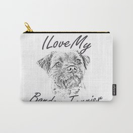 I Love My Border Terrier Carry-All Pouch