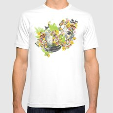 Terror Tropical 1 MEDIUM Mens Fitted Tee White
