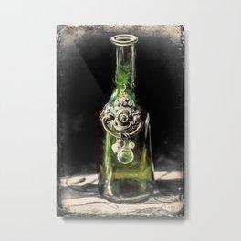 Little Green Bottle Metal Print