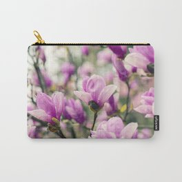 Pink Magnolia Flower Carry-All Pouch