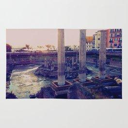 Roman Temple in Pozzuoli, Bay of Naples, Italy Rug