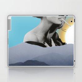 Over The Mountains - Smoking Woman Laptop & iPad Skin