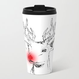 Rudolph and his red nose Metal Travel Mug