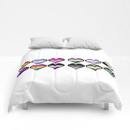 Various Pride Pixel Hearts Comforters