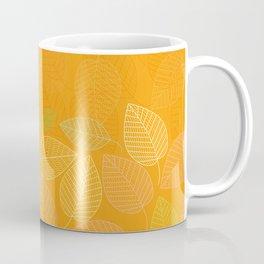 LEAVES ENSEMBLE ORANGE YELLOW Coffee Mug