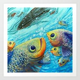 Thanks Fish Art Print
