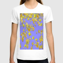 Yellow Daffodils Jonquils Narciscus Flowers Lilac Art T-shirt