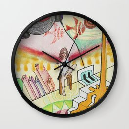 Alice in My Land Wall Clock