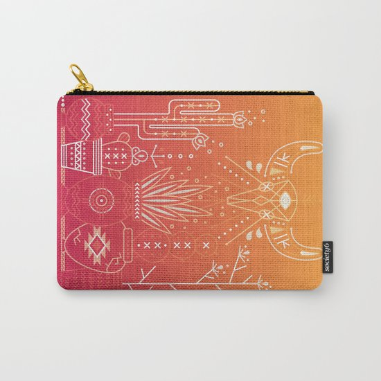 Santa Fe Garden – Orange Sunset Carry-All Pouch