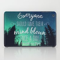 neil gaiman iPad Cases featuring Inspirational Poster - Neil deGrasse Tyson Quote by Mariah Liisa