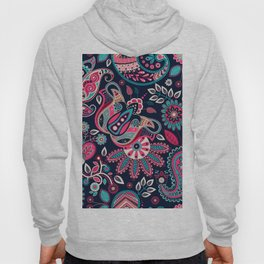 Boho Paisley and Floral Pattern Hoody